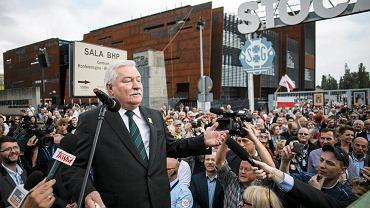 30.08.2014, Gdańsk, Lech Wałęsa podczas otwarcia Europejskiego Centrum Siolidarności