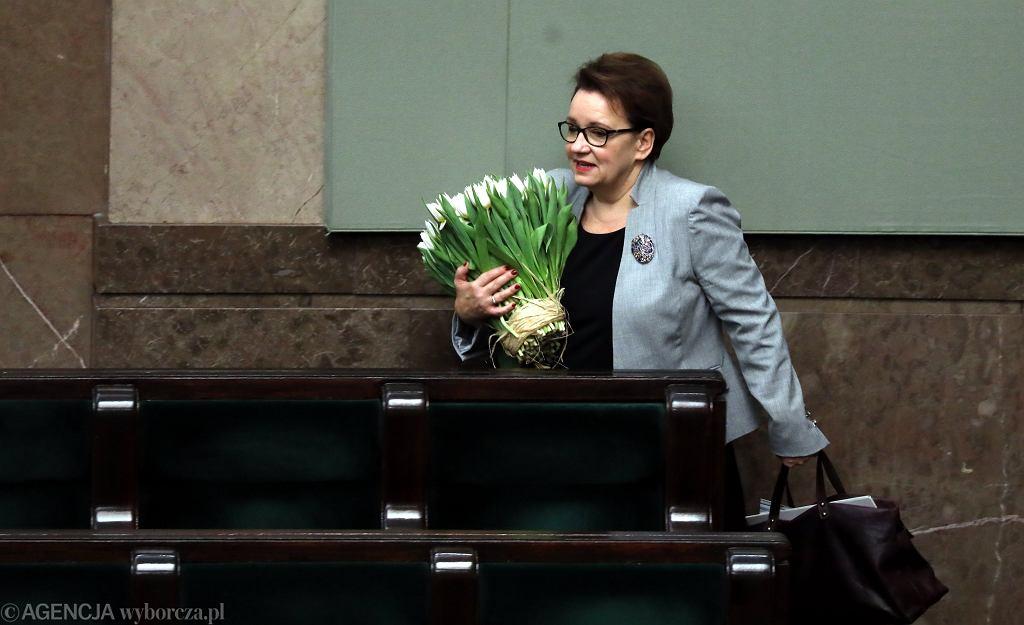 Sejm odrzucił wniosek o wotum nieufności wobec Anny Zalewskiej