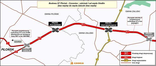 Trasa S7, Siedlin - Załuski