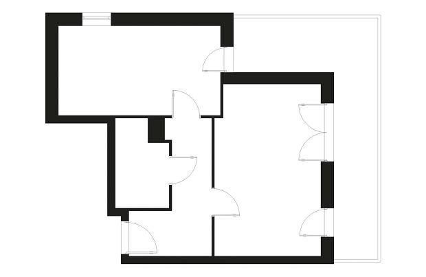 Trzeci pokój w dwupokojowym mieszkaniu