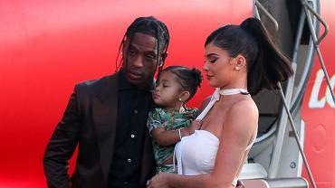 Kylie Jenner, Travis Scott i Stormi na premierze Travis Scott: Look Mom I Can Fly