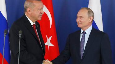 Prezydent Turcji Recep Tayyip Erdogan podczas sierpniowej wizyty w Rosji