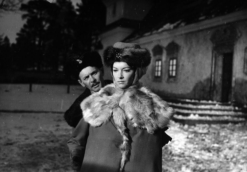 Barbara Brylska i Tadeusz Łomnicki w 'Panu Wołodyjowskim'