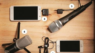 Mikrofony smartfonowo-tabletowe