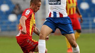 W ostatnich meczach poprzedniego sezonu piłkarze Podbeskidzia zagrali z logo nowego sponsora na koszulkach