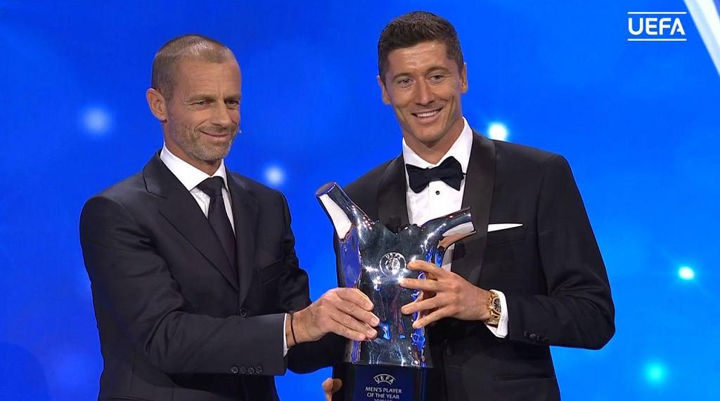 Robert Lewandowski, nagroda od UEFA dla piłkarza roku w Europie