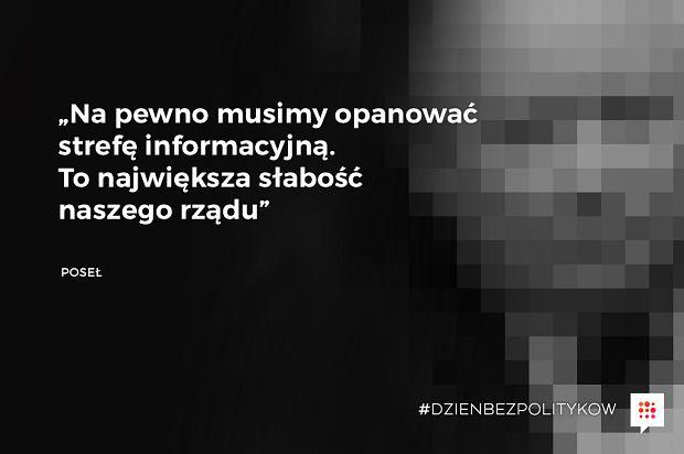 Na pewno musimy opanować strefę informacyjną - Poseł - Gazeta.pl bierze udział w proteście mediów przeciw ograniczeniom dla dziennikarzy w Sejmie. W piątek 16 grudnia nie zobaczysz na naszej stronie polityków - Gazeta.pl
