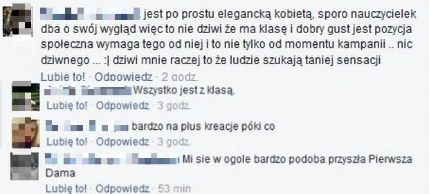 Komentarze o Agacie Dudzie na Facebook.com/Dorota Wróblewska - oficjalny blog