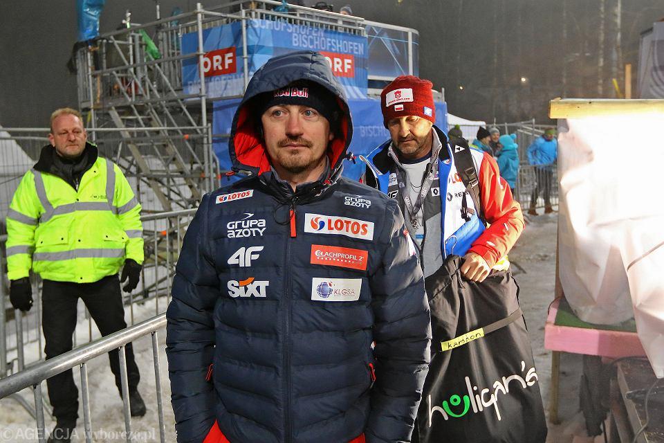 Adam Małysz podczas Turnieju Czterech Skoczni. Skocznia Paul Ausserleitner Schanze w Bischofshofen. Austria, 5 stycznia 2018