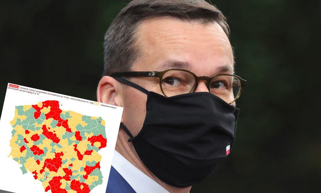 W czwartek nowa lista czerwonych powiatów