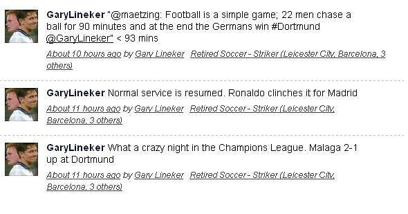 Reakcja Gary'ego Linekera na Twitterze po meczu Borussii
