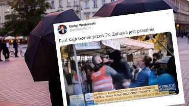 Kaja Godek podnoszona przez tłum po wyroku TK