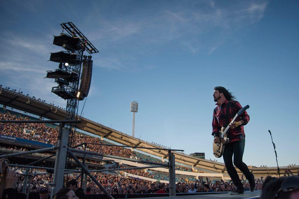 Dave Grohl na koncercie Foo Fighters w Göteborgu, 12 czerwca 2015 r.