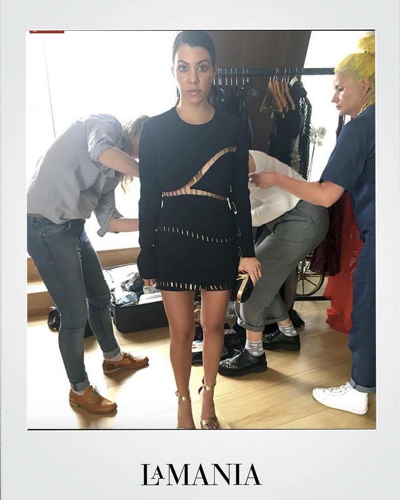 Kourtney Kardashian w sukience La Mania ALLI, styczeń 2017