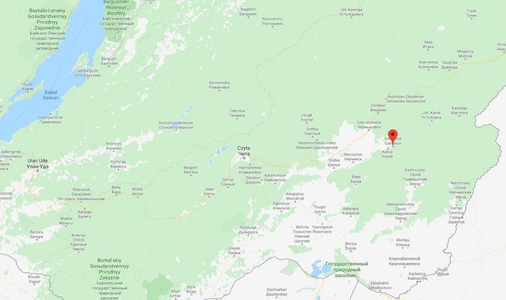Wypadek autobusu niedaleko Sereteńska/Fot. Google Maps