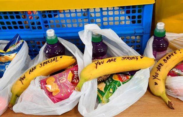 Banany z wiadomością od Meghan Markle