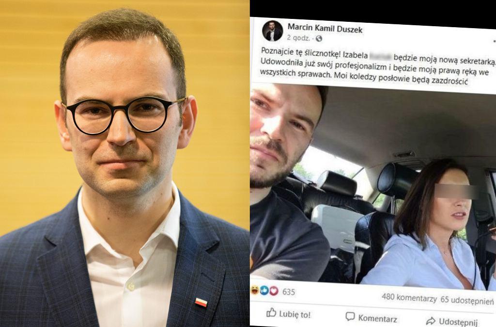 Włamanie na konto facebookowe Marcina Kamila Duszka