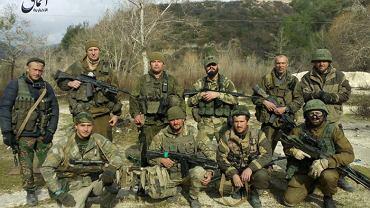Wagnerowcy w Donbasie. Zdjęcie rok po zrobieniu odnalezione w telefonie rosyjskiego najemnika zabitego w Syrii