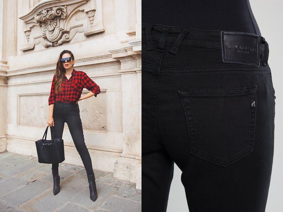 czarne jeansy Replay z wyprzedaży