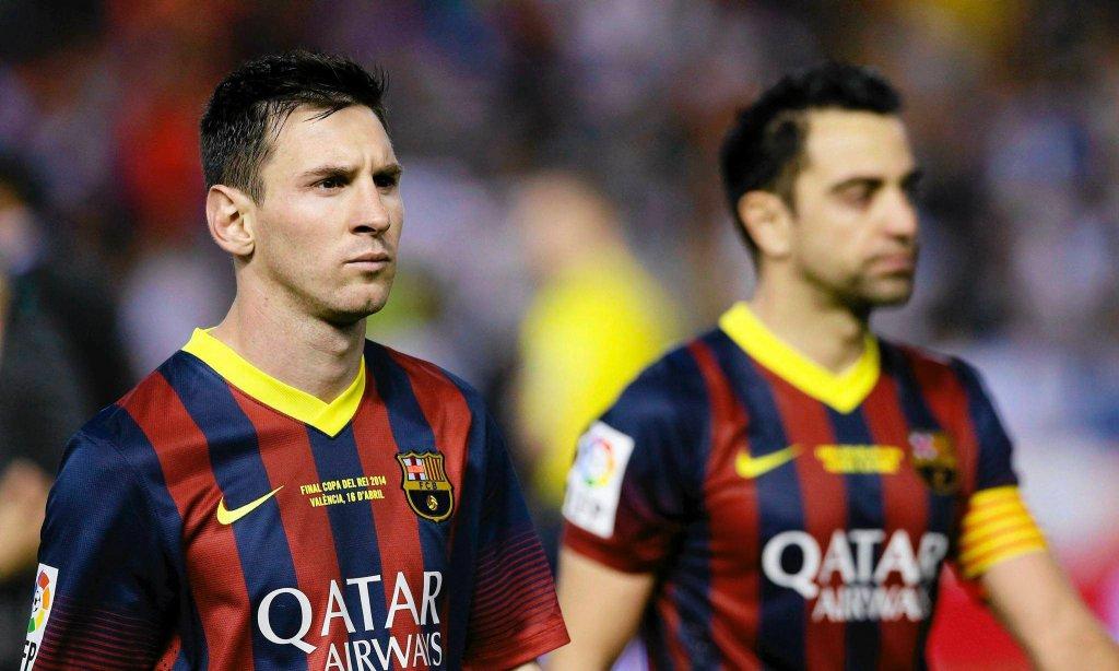 Leo Messi i Xavi Hernandez