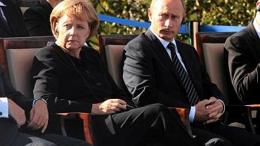 Angela Merkel i Władimir Putin w 2009 roku w Gdańsku