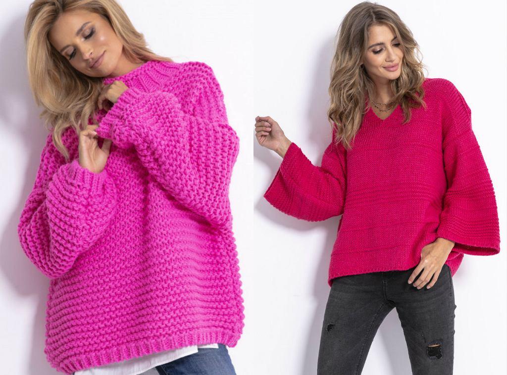 Swetry w kolorze magenty