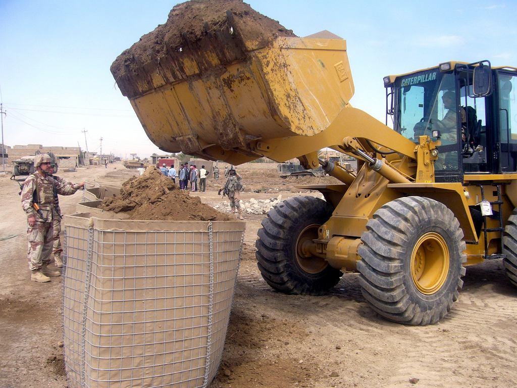 Napełnianie hesco-bastiony w Iraku