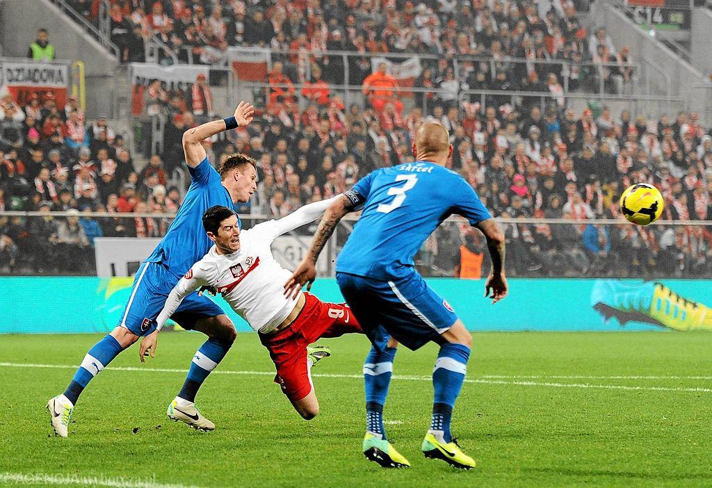 Mecz towarzyski Polska-Słowacja na wrocławskim Stadionie Miejskim, 15.11.2013 r.