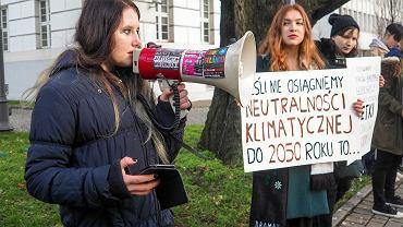Grudniowy protest Młodzieżowego Strajku Klimatycznego