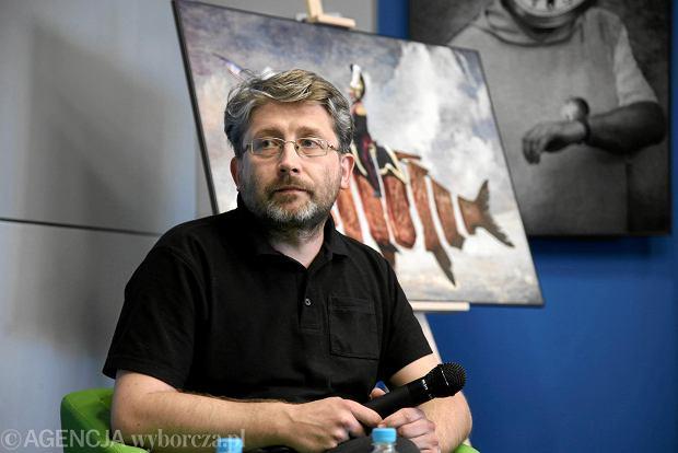 Eryk Krasucki na spotkaniu autorskim na temat jego książki 'Historia kreci drejdlem...' w ProMediach