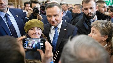 Lubartów. Andrzej Duda podczas spotkania z mieszkańcami ogłasza swój start w wyborach prezydenckich