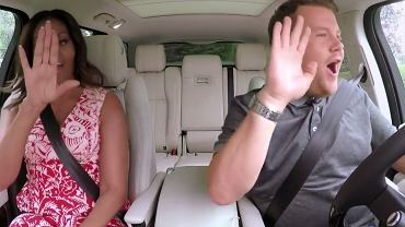 "Michelle Obama i James Corden  w ""Carpool karaoke"""