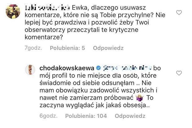 Ewa Chodakowska - o hejcie