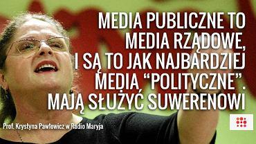 Krystyna Pawłowicz na stronie Radia Maryja