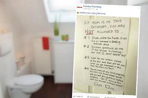Miała dość tego, że dzieci nie dają jej spokoju nawet w toalecie. Załatwiła sprawę jedną kartką [FOTO]