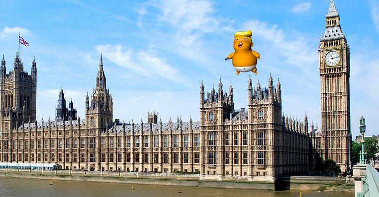 Donald Trump będzie w Londynie 12 lipca. Wtedy nad miastem pojawi się balon z jego karykaturą