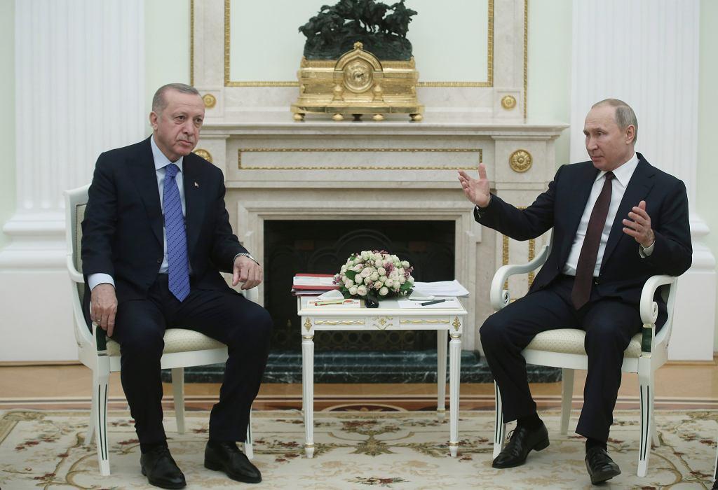 Recep Tayyip Erdogan i Władimir Putin