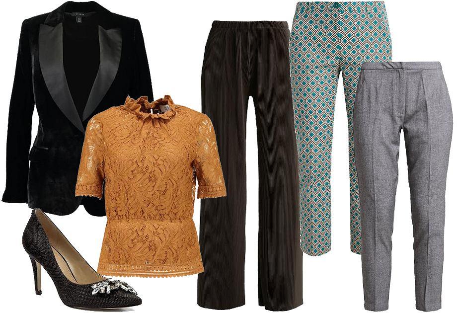 Wigilia firmowa - stylizacja ze spodniami