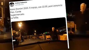 Koronawirus we Włoszech. 60 mln ludzi w czerwonej strefie. Nocny szturm na sklepy