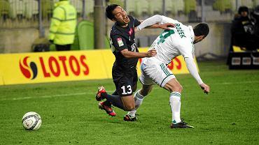 Takuya Murayama podczas meczu Lechia - Pogoń (2:3)