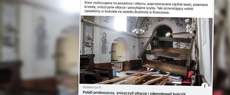 """Rzeszów. Zdemolowali zabytkowy kościół i pobili proboszcza. """"Widok niczym w rzeźni"""""""
