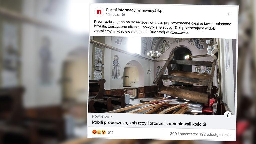 Zdemolowano zabytkowy rzeszowski kościół