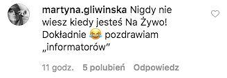 Komentarz Martyny Gliwińskiej