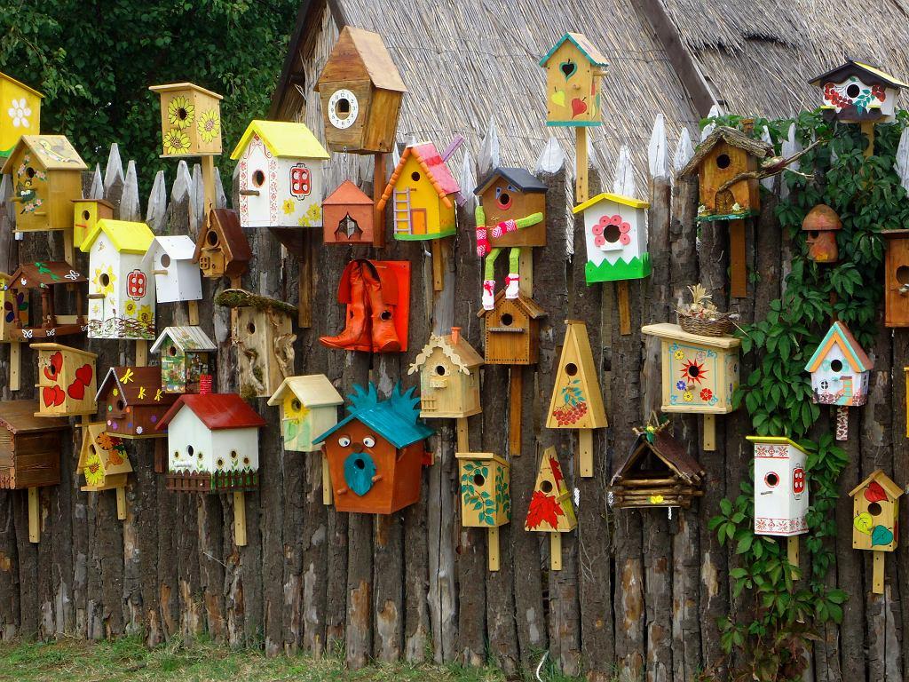 Domki dla ptaków.