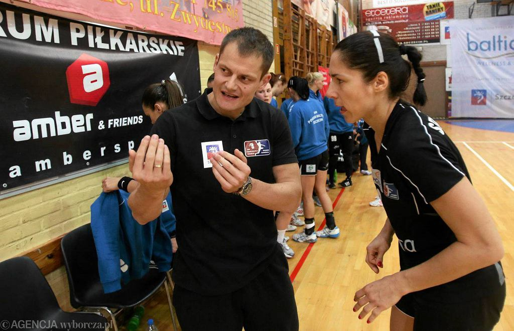 Trener Adrian Struzik z Moniką Stachowską
