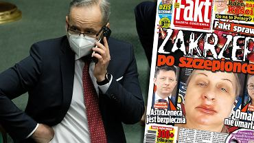Minister Adam Niedzielski o okładce 'Faktu'