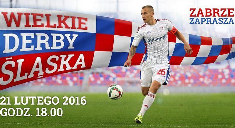 Bilbord promujący Wielkie Derby Śląska