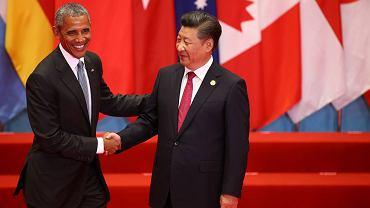 Barack Obama i Xi Jinping  podczas szczytu w Hangzhou.  Po ratyfikacji traktatu paryskiego przez USA i Chiny szanse na jego wejście w życie znacznie wzrosły