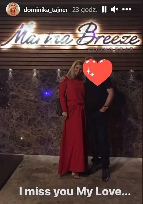 Dominika Tajner z partnerem