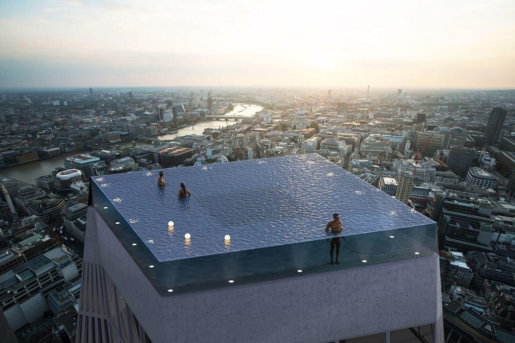 W Londynie powstanie przezroczysty basen zajmujący cały dach wieżowca. Na wysokości 220 metrów nad ziemią